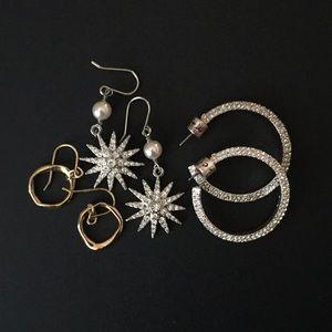 3 pair of Chloe + Isabel Earrings